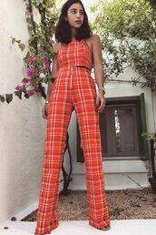 top,orange to,crop tops,pants,wide-leg pants,two-piece