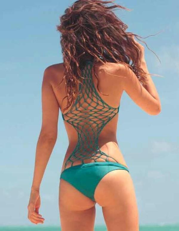 swimwear maillot de bain 1 pi?ce bleu turquoise original mikoh