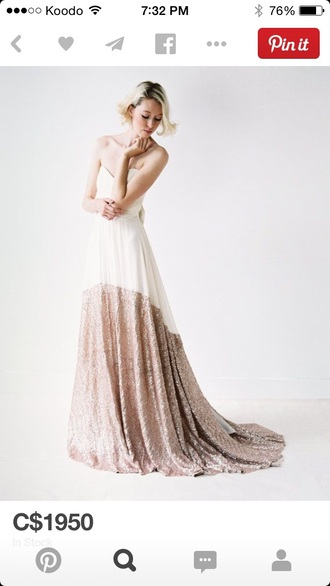 prom dress elegant dress dress white dress white gold