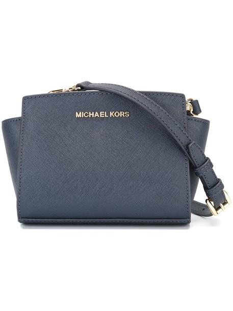 MICHAEL Michael Kors mini women bag crossbody bag leather blue