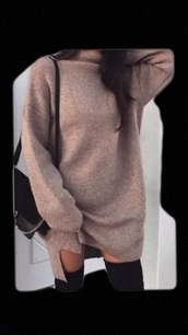 dress,comfy,tan,sweater