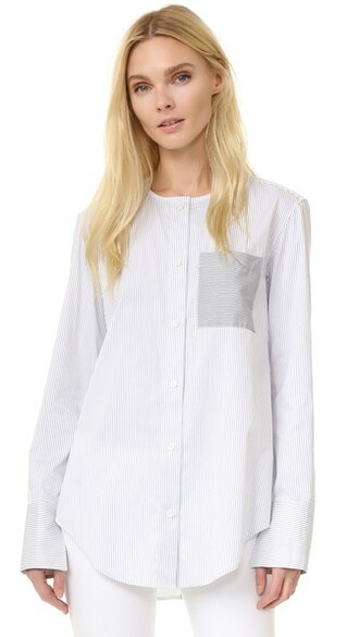 shirt long sleeve shirt long white satin grey top