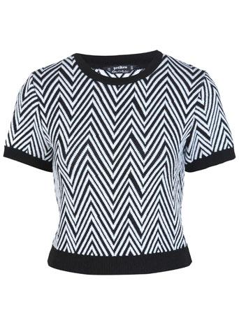 Petites Knitted Crop Jumper - Clothing  - New In  - Miss Selfridge