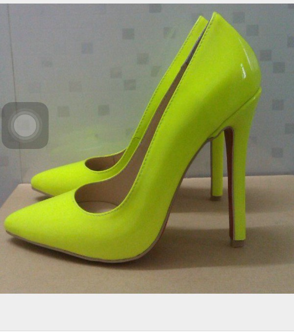 Neon Yellow Green Heels | Tsaa Heel