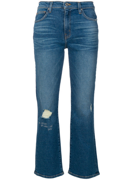 Iro jeans cropped jeans cropped women spandex cotton blue