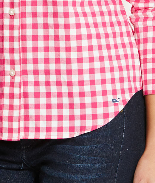 Shop Shirts: Becket Gingham Flannel Shirt for Women | Vineyard Vines
