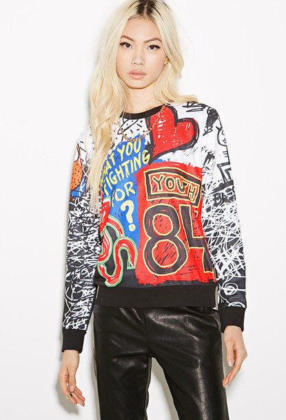 sweater sweatshirt dope cute pretty graffiti urban
