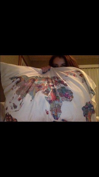 pajamas map print cozy awsome pillowcases pillow world map