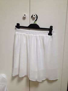 white chiffon Skater skirt 8 10 12 14 | eBay
