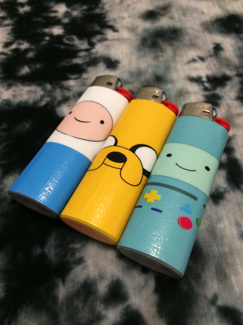 Adventure time character lighter finn, jake, bmo