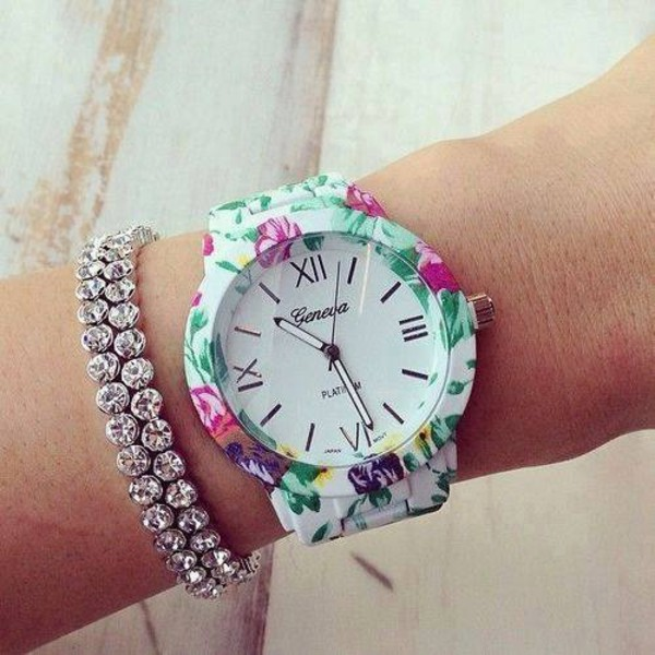 jewels fleure montre flower watch watch floral summer geneva