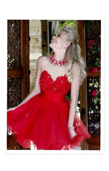 short sparkly prom homecoming gown dance strapless necklace