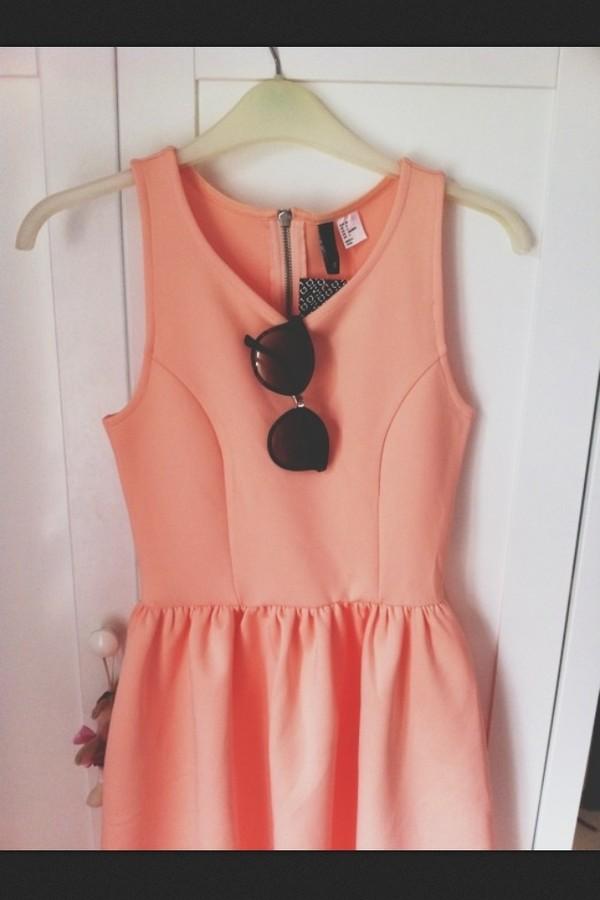 dress pink dress skater girl