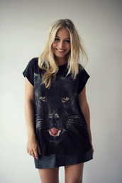 t-shirt,panther,black,jaguar,top,shirt,cats,wild