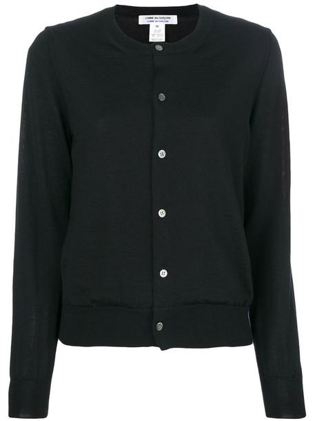 Comme des Garçons Comme des Garçons cardigan cardigan long women black silk wool sweater