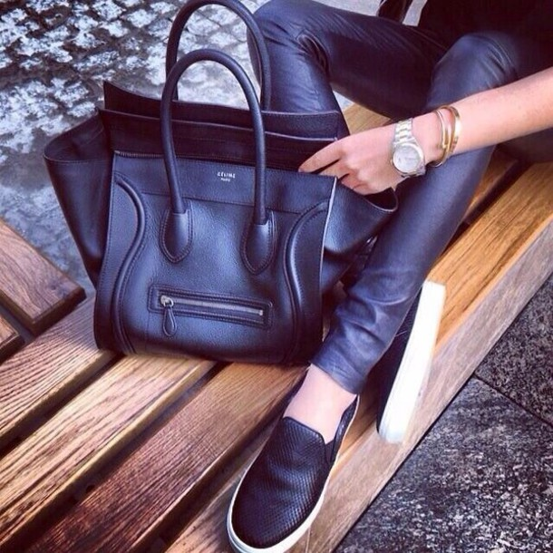 shoes black leather white trainers slip on shoes pants slip on shoes black leather pants bag