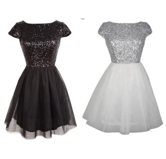 dress glitter dress glitter pretty dress silver black