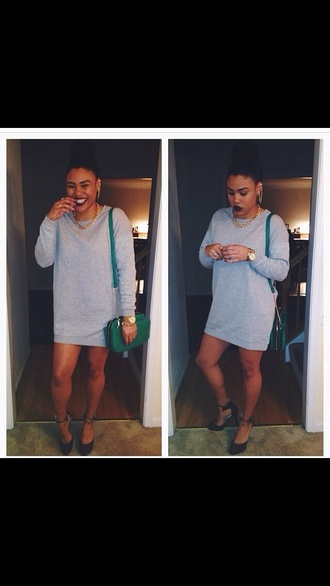 dress t-shirt dress shirt dress gray dress