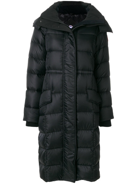 canada goose parka fur women cotton black coat