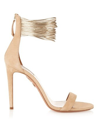 sandals suede nude shoes