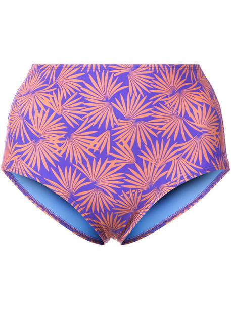 Dvf Diane Von Furstenberg bikini bikini bottoms tropical women print purple pink swimwear