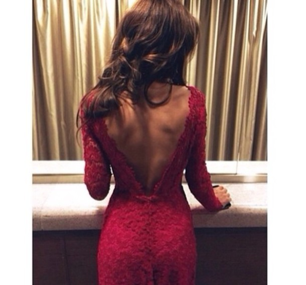 Excellent Dress Red Red Dress Open Back Prom Classy Hot Oscars Party Short Hairstyles For Black Women Fulllsitofus