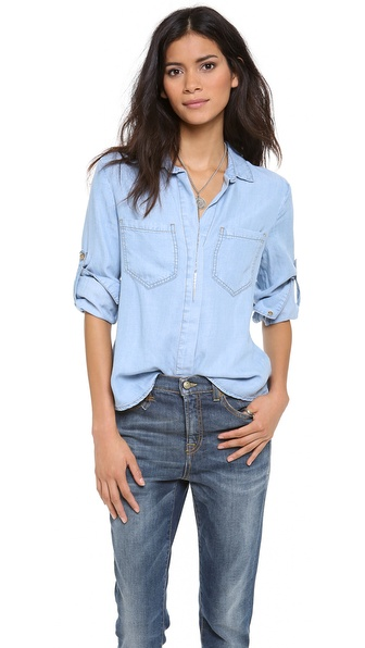 Bella Dahl Split Back Button Down Shirt | SHOPBOP