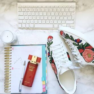 shoes gucci ace sneakers gucci gucci shoes sneakers white sneakers low top sneakers floral sneakers perfume notebook candle