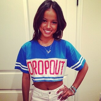 shirt jersey hers blue white karrueche croped crop tops cropped sweater camouflage