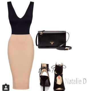 dress black body suit high waist nude skirt skirt cream skirt