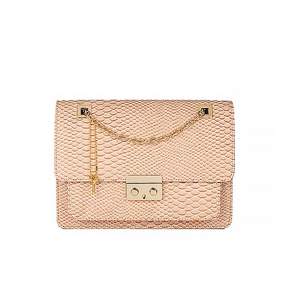 Python Skin Print Shoulder Bag