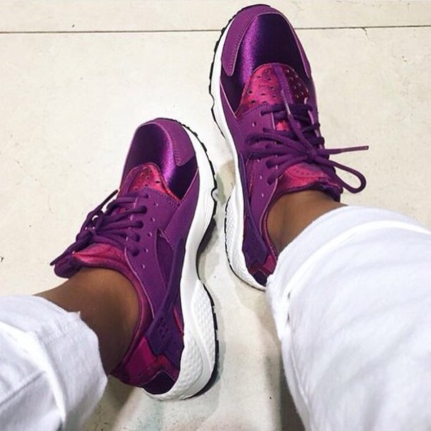 Nike Air Huarache Pink And Purple