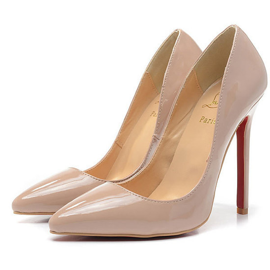 Sapato christian louboutin pigalle nude 12cm