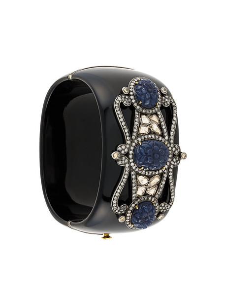 cuff women embellished gold silver black jewels