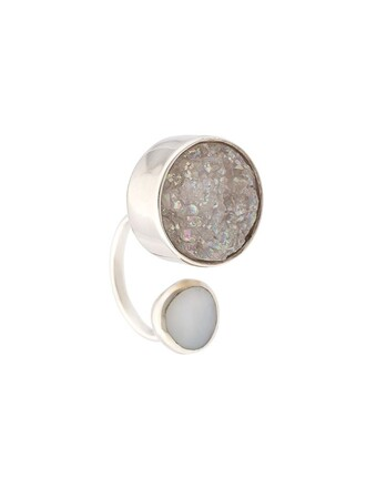 open ring white jewels