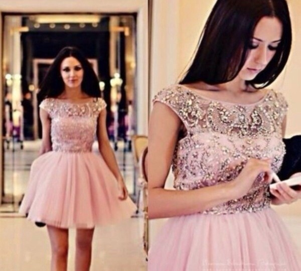 dress prom dress short prom dress light pink dress prom dress