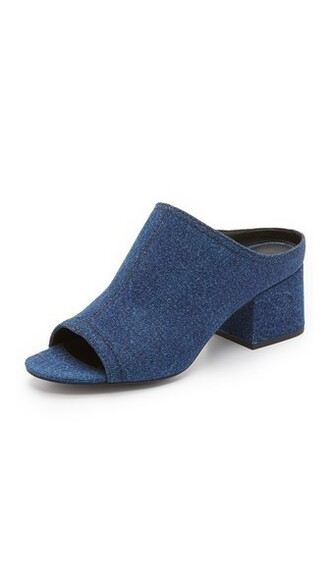 denim light mules shoes