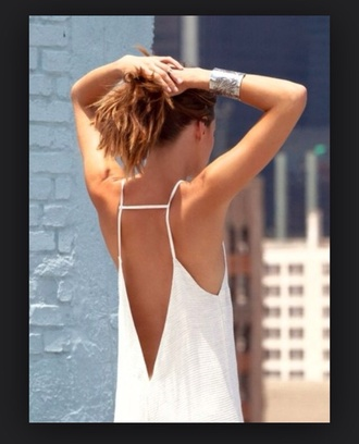 shirt white top low back