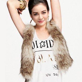 Zeagoo women's autumn and winter fur vest fastener satin liner vest at amazon women's clothing store: