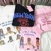 blouse,yeah bunny,long sleeves,dog,dog lover,cute