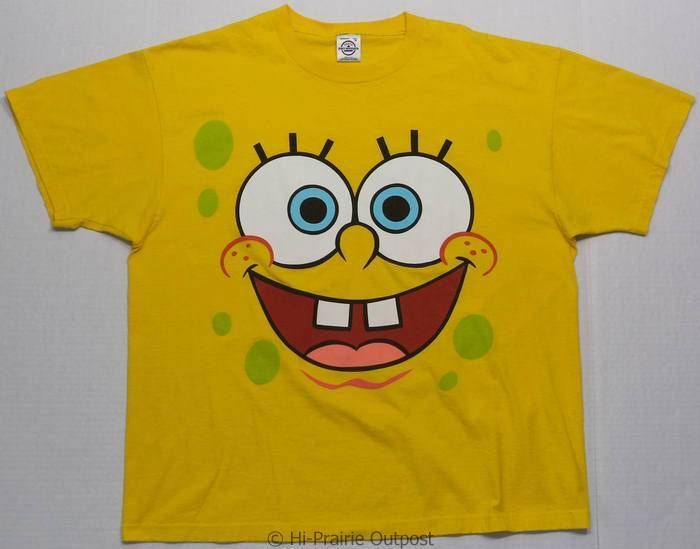 Spongebob Squarepants Short Sleeve T Shirt Mens Size XL | eBay