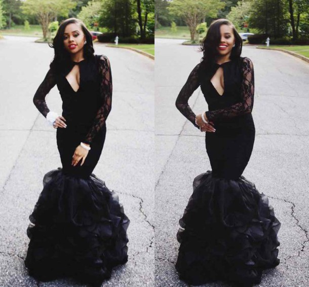 dress, keyhole neck, ruffles skirts prom dresses, girls pageant gow ...