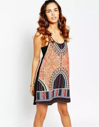 dress girl girly girly wishlist mini dress ethnic tribal pattern summer dress