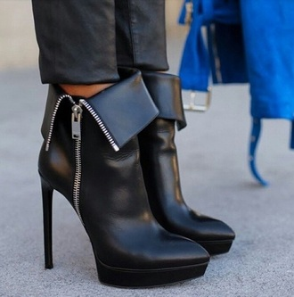 shoes heels black heels zip