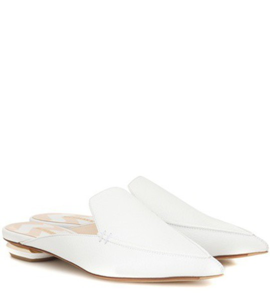 Nicholas Kirkwood Beya leather mules in white