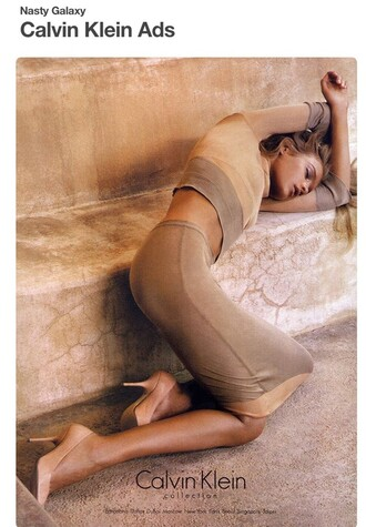 dress model calvin klein editorial beige dress two piece dress set bodycon dress natalia vodianova