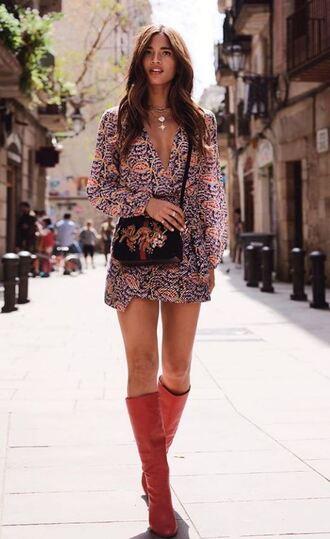 dress mini dress wrap dress boots spring outfits spring dress rocky barnes instagram cute dress cute outfits