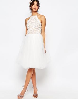 dress prom dress bridesmaid white dress asos