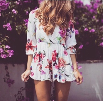 romper floral floral romper cute cute romper adorable summer summer outfits it's so adorable style spring outfits perfect summer outfit