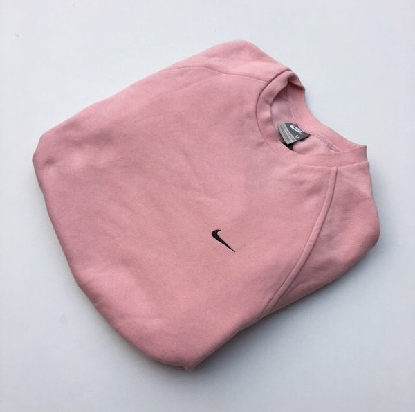 Sweater: pink, nike, vintage, crewneck, jumper, pink ...